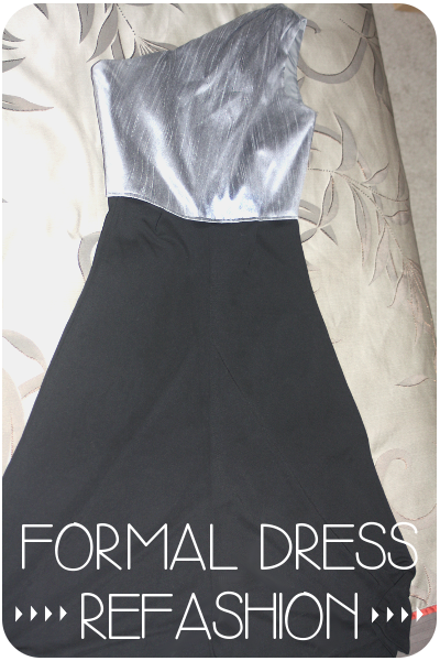 Formal Dress Refashion Title Picture
