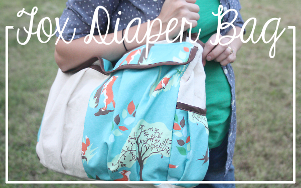 Fox Diaper Bag