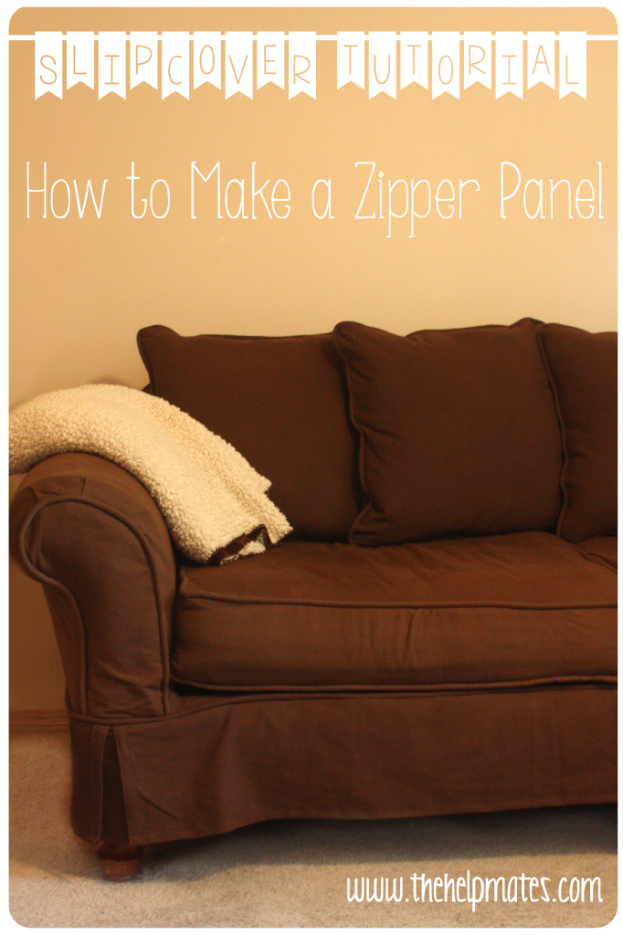 Slipcover zipper panel