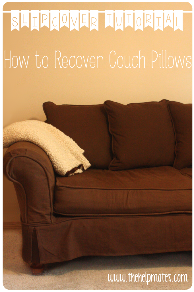 Slipcover recover pillows