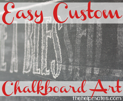 easy custom chalkboard art