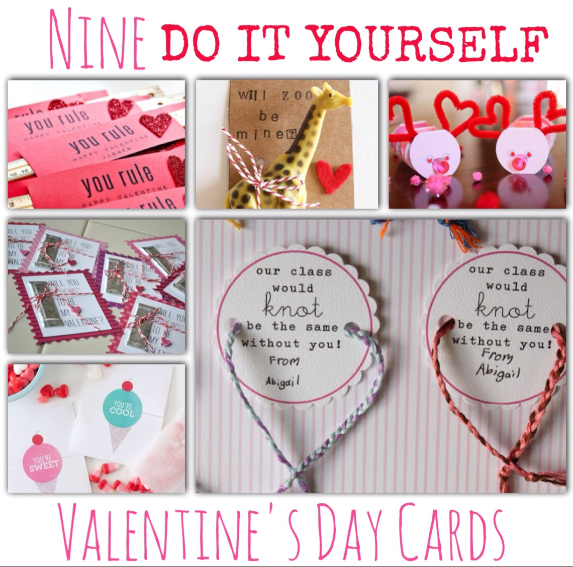 9 DIY Valentines Day Cards The Helpmates – Make Your Own Valentines Day Cards