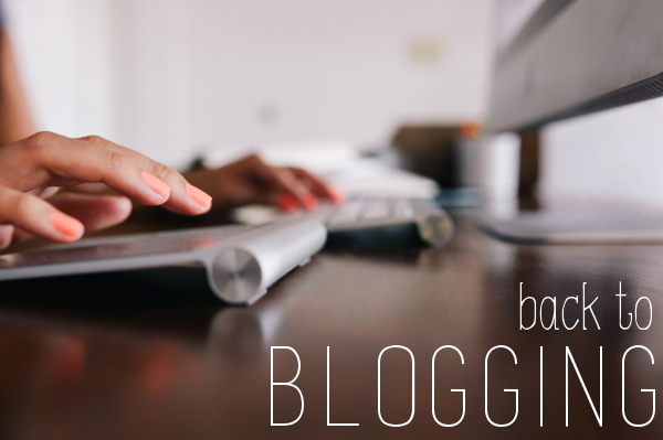 back to blogging