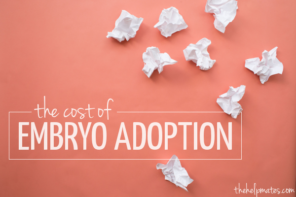 cost of embryo adoption