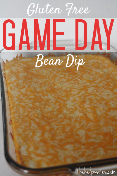 gameday bean dip