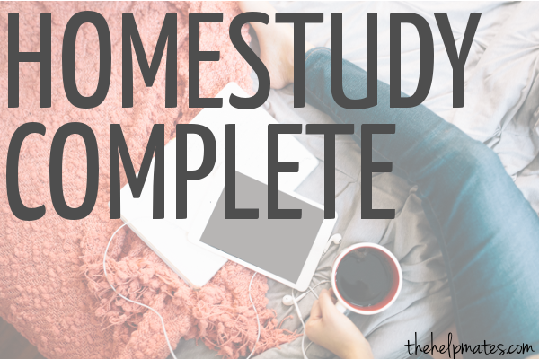 homestudy complete