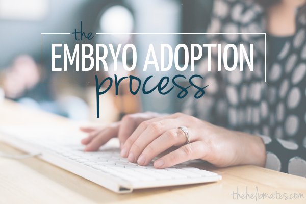 the embryo adoption process